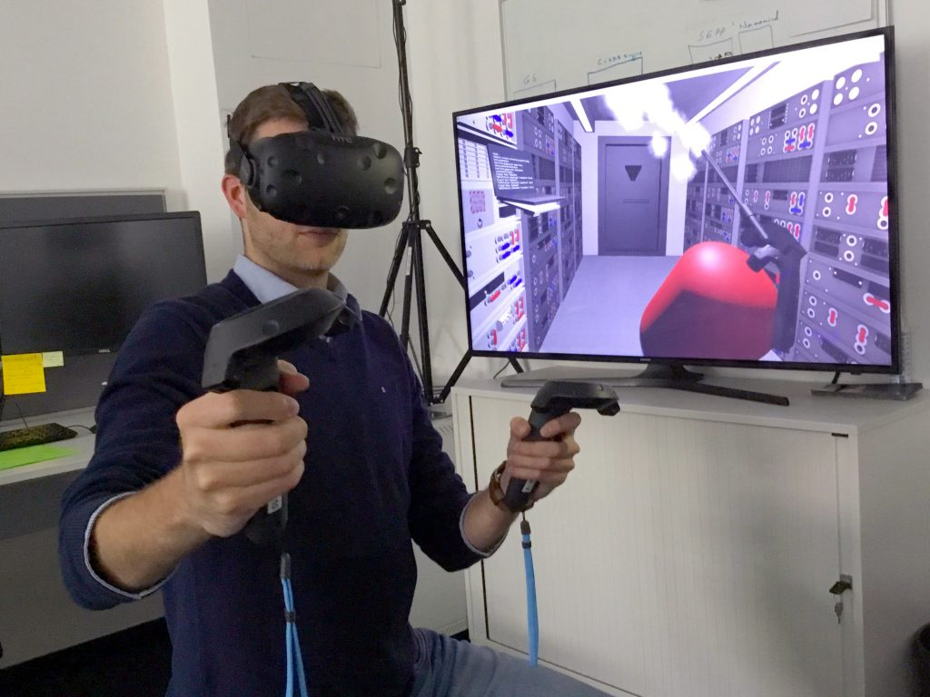 An example of Virtual Reality in use
